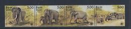 CEYLAN 1986 ELEPHANTS-WWF  YVERT N°768/71 NEUF MLH* - Unused Stamps