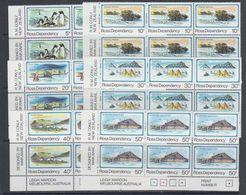 Ross Dependency 1982 Definitives 6v Bl Of 6  ** Mnh (40896) - Ross Dependency (Nieuw-Zeeland)