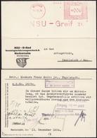 NSU D-Rad Vereinigte Fahrzeugwerke A.G. Machinenstempel, NSU Neckarsulm 14.12.1934 - Ingolstadt. - Deutschland