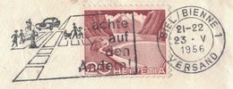 "AL133   HELVETIA 1956 : Postmark Slogan ""achte Auf Den Anderen"" Safety Road - Incidenti E Sicurezza Stradale"