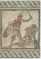 Romermuseum Augst Baselland Gladiators Mosaic Uncirculated Postcard (ask For Verso / Demander Le Verso) - Antichità