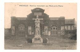Proville - Monument Aux Morts Et La Mairie - CPA° - Andere Gemeenten