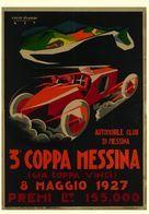 Car Automobile Grand Prix Messina 1927 - Reproduction - Publicité