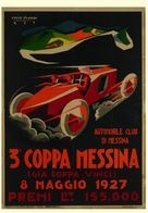 Car Automobile Grand Prix Messina 1927 - Reproduction - Reclame