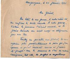 VP13.073 - Brésil - URUGUAYANA ( URUGUAIANA ) 1921  - Lettre De Mr BARRAUD Pour Mr Le Général GAMELIN - Manuscripts