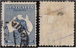 Australia. 1913 Definitive Issues - Kangaroo And Map. 2 1/2p. Sc.4. Cancelled - 1913-48 Kangaroos