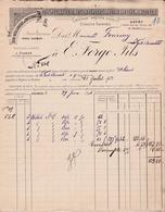 SAUMUR -49- 2 FACTURE & 1 TRAITE - Usine Metallurgique De Fontevrault, E. Forge Fils  -Ref:A7525 à 27 - France
