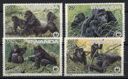 WWF -  RWANDA - GORILLA - 1985 -  4  V. -MNH  - - W.W.F.