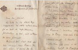 VP13.075 - Brésil - RIO DE JANEIRO 1923 - Lettre De Mr Georgel BODIN  Pour Mr Le Général GAMELIN - Manuscripts