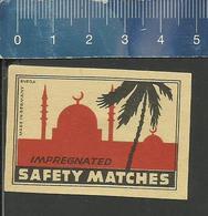 MOSCHEE PALME OLD EXPORT Matchbox Label Former DDR ( MOSQUÉE PALMIER - MOSQUE PALM TREE ) - Boites D'allumettes - Etiquettes