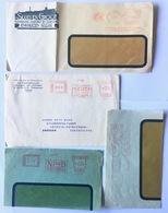 6 EMA Meter Marks 1930'ies - Poststempel - Freistempel