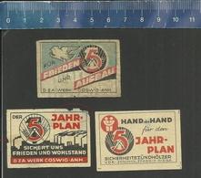 5 JAHRPLAN FÜR FRIEDEN UND AUFBAU    OLD  Matchbox Labels Former DDR - Boites D'allumettes - Etiquettes