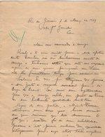 VP13.079 - Brésil - RIO DE JANEIRO 1929 - Lettre De Mr ?? Pour Mr Le Général GAMELIN - Manuscripts
