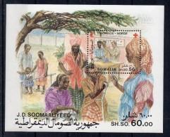 SOMALIE - SOMALIA - BLOC-FEUILLET - MINIATURE SHEET - CROIX-ROUGE - RED-CROSS - EMISSION COMMUNE AVEC LA NORVEGE - 1987 - Somalie (1960-...)