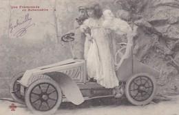 CARTE FANTAISIE. ANGE . UNE PROMENADE EN AUTOMOBILE. ANNEE 1904 - Anges