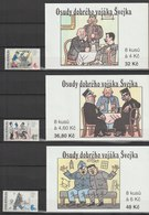 MiNr.153-155+MH 45-47 Tschechische Republik: 1997, 27. Aug. Europameisterschaften Im Schwimmen Und Wasserspringen, Prag. - Tschechische Republik
