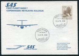 1979 Greenland Denmark SAS First Flight Cover. - Brieven En Documenten