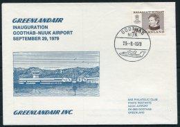 1979 Greenland Greenlandair First Flight Cover. Godthab - Nuuk, Slania - Greenland