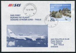 1993 Greenland SAS First Flight Covers (2). Stromfjord / Thule - Greenland