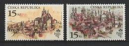 MiNr.156 - 157 Tschechische Republik: 1997, 24. Sept. Internationale Briefmarkenausstellung PRAGA '98. - Tschechische Republik