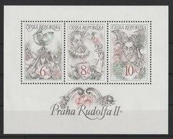 MiNr.146 - 148 (Block 4) Tschechische Republik: 1997, 14. Mai. Blockausgabe: Kaiser Rudolf II. - Tschechische Republik