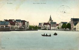 EMDEN, Alter Hafen Mit Delft (1908) AK - Emden