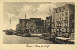 EMDEN, Partie Am Delft, Hotel Weisses Haus (1920s) AK - Emden