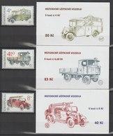 MiNr.158 - 160 + MH 48 - 50 Tschechische Republik: 1997, 8. Okt. Historische Nutzkraftwagen. - Tschechische Republik