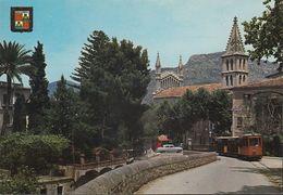 Spanien - Mallorca - Sóller - Train - Railway Station - Street - Car - Mallorca