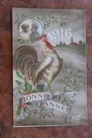 CARTE PATRIOTIQUE COQ GAULOIS - BONNE ANNEE 1916 - Patriotiques