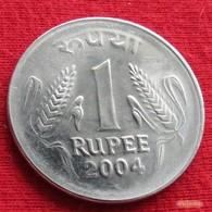 India 1 Rupee 2004 N KM# 92.2 Inde Indie - India