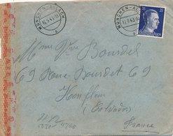 Lettre Camp De Munchen Allach Pour Caen Correspondance Censure Au Dos - Germany