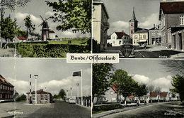 BUNDE, Ostfriesland, Mühle, Hollandsche Grenze, Kirche, Siedlung (1953) AK - Germany