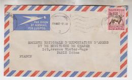 1957 - Lettre De Johannesbourg Par Avion Pour Paris - Seul Sur Lettre - FRANCO DE PORT - Afrique Du Sud (...-1961)