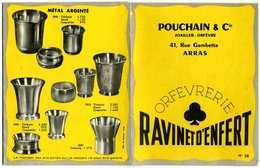 Dépliant Publicitaire Pouchain Et Cie Joailler Orfèvre ARRAS Orfèvrerie Ravinet D'Enfert - Publicités