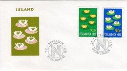 Iceland/Islande/Ijsland/Island FDC 02.II.1977 Nordic Issue Matching Cover - FDC
