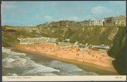 Tolcarne Beach, Newquay, Cornwall, 1956 - Jarrold Postcard - Newquay