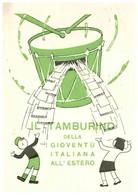 PUBBLICITA' PUBBLICITARIE IL TAMBURINO DELLA GIOVENTU' ITALIANA ALL'ESTERO - Advertising