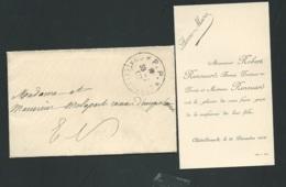 Chatellerault Le 29/12/1906 , Faire Part De La Naissance De  Anne Marie Renouard  Ax14503 - Nacimiento & Bautizo