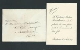 Bordeaux Le 4/08/1907 Naissance De Henri Prouteaux   Ax14505 - Nacimiento & Bautizo