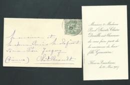 Flers En Escorbieux - Faire Part De La Naissance De Genevieve Sainte Claire Deville Le 22/05/1907 Ax14506 - Nacimiento & Bautizo