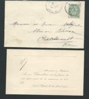 Saint Claud ( Charente )  - Faire Part De La Naissance  De Pierre Devillars Le 16/04/1907  Ax14508 - Nacimiento & Bautizo