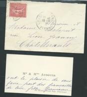Chatellerault (86 )faire Part  Fiançailles De Germaine Auboyer  Avec M Victor Amant Docteur En Droit En 1907  Ax14510 - Verloving