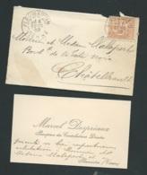 Pleumartin  (86 )faire Part  Fiançailles De Marceln Despréaux Avec Mlle Germaine  Castaignes  Ax14511 - Verlobung