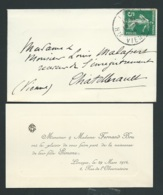 Limoges (87) Faire Part  Naissance De  Simone Bru Le 29/03/1914  Ax14515 - Nacimiento & Bautizo