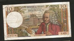 FRANCE - BANQUE De FRANCE - 10 Francs VOLTAIRE ( A. 5 / 11 / 1970 ) Serie: E. 626 - 1962-1997 ''Francs''