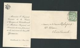 Chatellerault (86) Faire Part  Naissance De  Germaine Faizand Le 7/05/1902 Ax14517 - Nacimiento & Bautizo