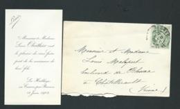 La Hublaye En Cosson (35)   Faire Part  Naissance De Louis Oberthur Le 14/06/1902 Ax14519 - Nacimiento & Bautizo