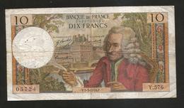 FRANCE - BANQUE De FRANCE - 10 Francs VOLTAIRE ( P. 5 / 3 / 1970 ) Serie: Y. 576 - 1962-1997 ''Francs''