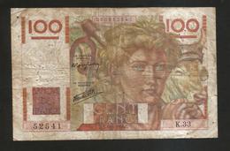 FRANCE - BANQUE De FRANCE - 100 Francs  Jeune Paysan  ( C. 18 - 4 - 1946 ) Serie: K33 - 1871-1952 Antichi Franchi Circolanti Nel XX Secolo